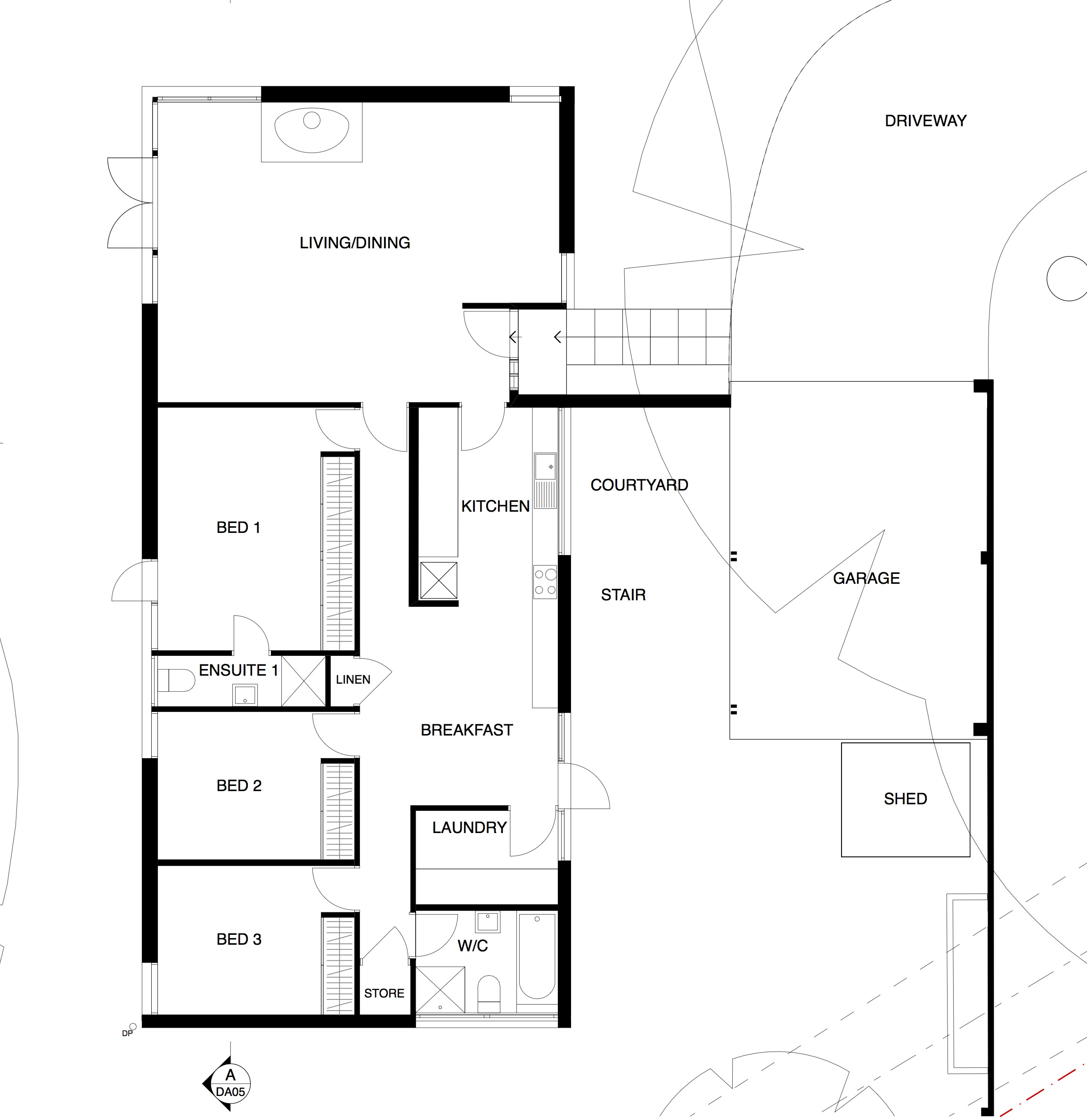 single storeyness the floorplan conundrum sydney house lowlineexample