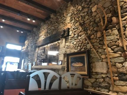 Amazing stone work in the Girona restaurant interior.