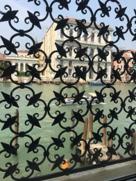Ironwork from inside Peggy Guggenheim Museum Venice