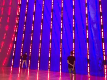 Oh look, hello neon! Guggenheim Museum Bilbao by Frank Gehry