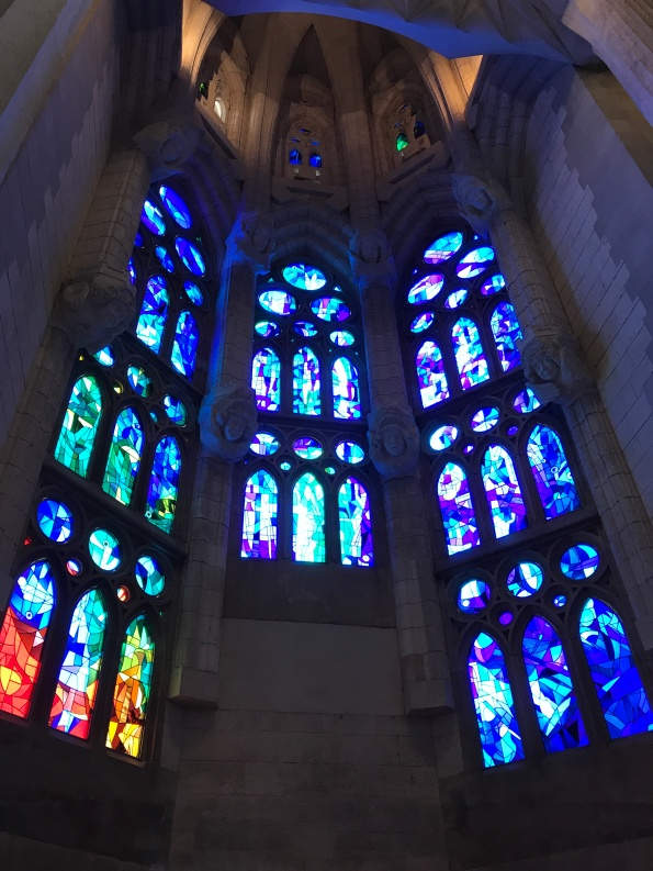 Stained glass, Sagrada Familia Barcelona