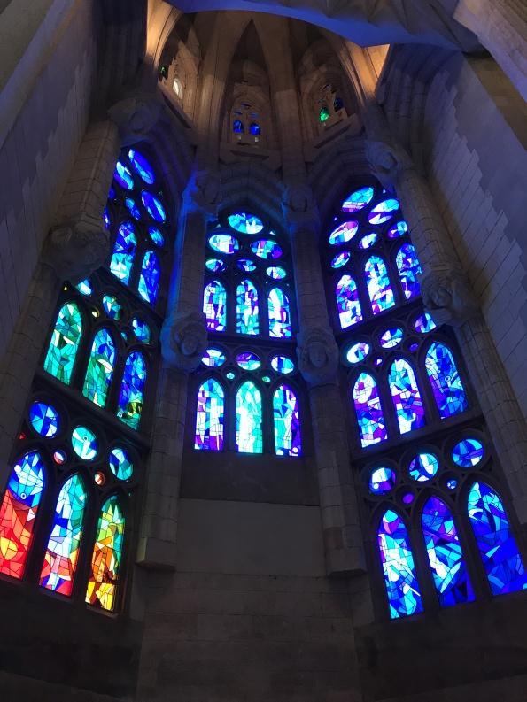 Stained glass, Sagrada Familia Barcelona