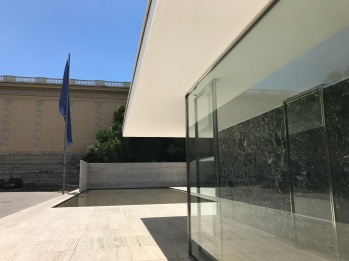The lovely Barcelona Pavillion (technically the German Pavillion 1932) by Mies van der Rohe