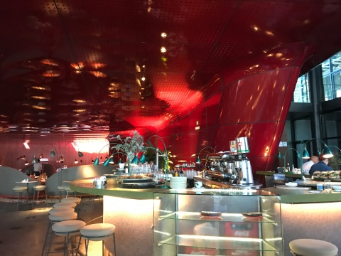 "Jetsons styling ""Nubel' restaurant by Jean Nouvel in Madrid"