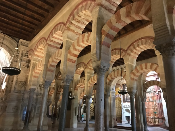 The old mosque section of the Cordoba Mesquita Cathedral