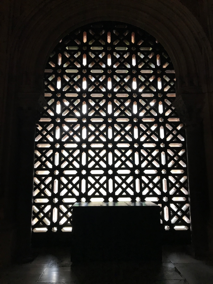 Traditional beautiful screens in the Cordoba Mesquita Cathedral, Spain