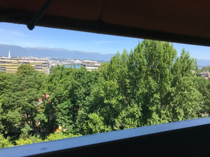 View from Geneva apartment thanks to dear friends