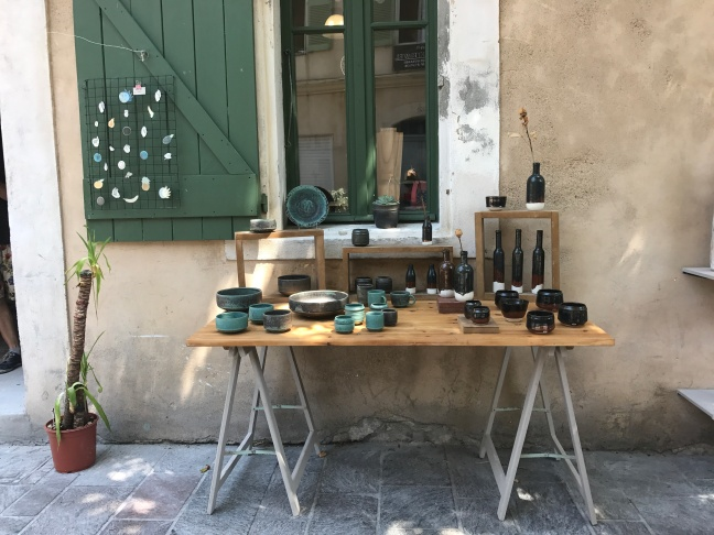 Quirky, artistic Antibes, France - a favourite! I couldn't go home without the beautiful copper glazed olive bowls
