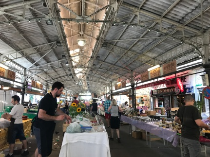 Antibes market, under a very original looking open-air steel structure