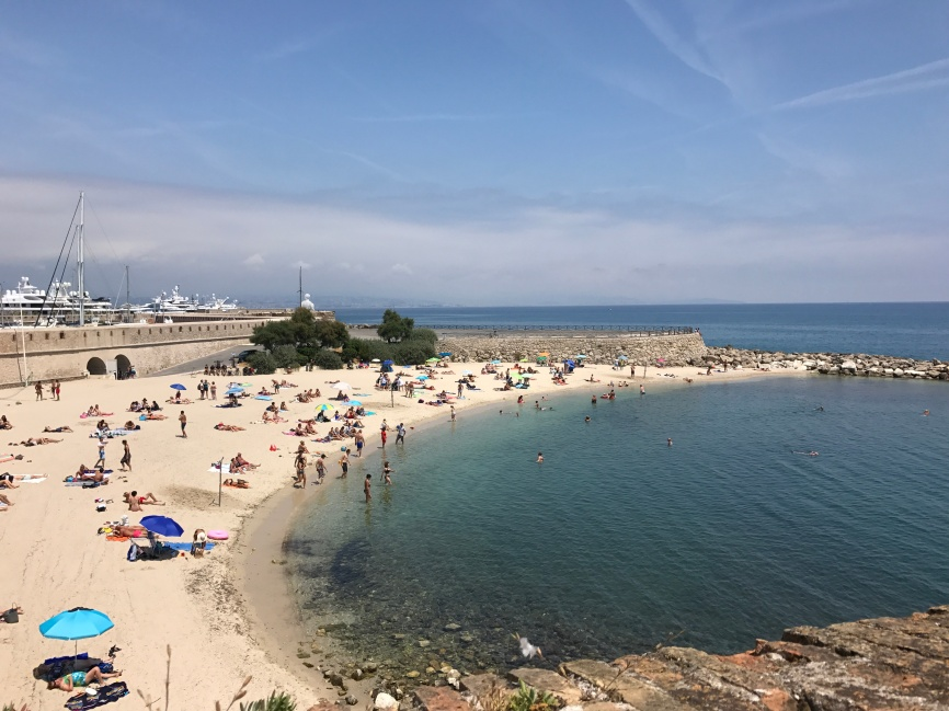 Plage de la Gravette, Antibes - one of my best days swimming, walking and catching the sun