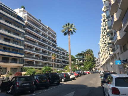 Streetscape in Cannes, France